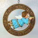 vintage Hallmark Christmas Ornament 1977 Peace on Earth Angel Nostalgia