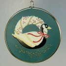 vintage Hallmark Christmas Ornament 1986 A Husband is a Forever Friend duck wreath
