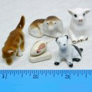 Lot of 5 dollhouse animals vintage miniature
