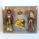 Christmas Ornaments Nativity 4 piece set Holy Family blown glass Expo Design Center