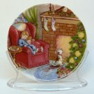 Hallmark Waiting for Santa1988 Collector's Series 2 porcelain miniature Christmas plate stand box