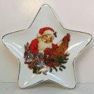 Giordano Christmas Santa plate star shaped Westwood International porcelain