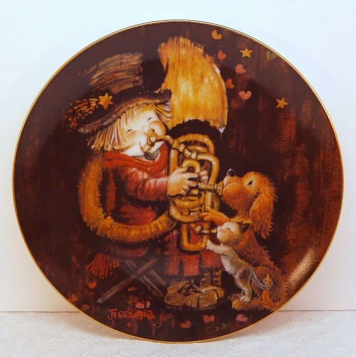 Vtg Ferrandiz Schmid plate The Entertainer 1981 porcelain limited edition 2nd in series box COA