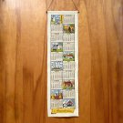 Vtg Kay Dee linen calendar towel 1981 Americana RB seasons