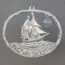 Pewter suncatcher sailing ship Nova Scotia Canada OceanArt Pewter 1994