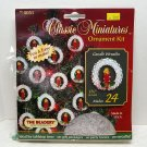 The Beadery Christmas small ornament bead kit candle wreaths makes 24