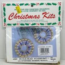 Merri Mac Christmas ornament bead safety pin kit Bugle Bead Starburst makes 3