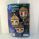 Sulyn Christmas ornament bead kit Victorian Lantern makes 3 ornaments