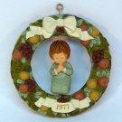 Vtg Hallmark Christmas ornament Della Robbia Wreath 1977 Twirl About Tree Trimmer box