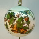 Vtg Hallmark Christmas Is ornament Antique Card Collection Design 1978 soft sheen satin ball bells