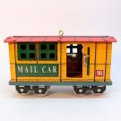 Hallmark ornament Yuletide Central Mail Car 3 in series 1996 tin