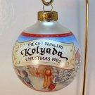 Hallmark Christmas ornament Kolyada The Gift Bringers 4th 1992 sleeved glass ball Russia theme