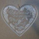vtg Hallmark 1979 Christmas ornament Love heart Holiday Highlights clear acrylic QX3047