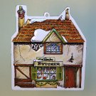 vtg Dept 56 ornament tin Shops of Dickens 1984 Beesley Butcher