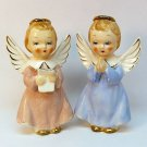 2 vintage angel figurines Japan ceramic praying reading
