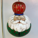Round Jolly Santa Christmas ornament