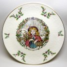 Vtg Royal Doulton Christmas plate 1978 2nd in series Victorian girl with basket and holly