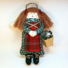 Country Angel doll decoration ornament Christmas with basket handmade
