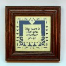 Folk Art Scherenschnitte Designs with Scissors My heart is with you wherever you go signed RW 1996
