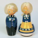 vintage Swedish boy and girl figurines wooden Sweden