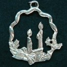 Seagull Pewter candle wreath Christmas ornament Canada