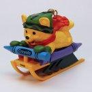 Hallmark Crayola Christmas ornament Bright Sledding Colors 10 in series 1998 bear sled box QX6166