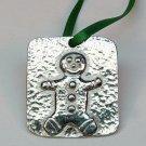 miniature Vilmain gingerbread man Christmas ornament pewter