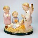 vintage Christmas Nativity figurine made in Japan porcelain Infant Jesus angel children