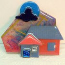House Pin by Lucinda blue moon vintage multi color