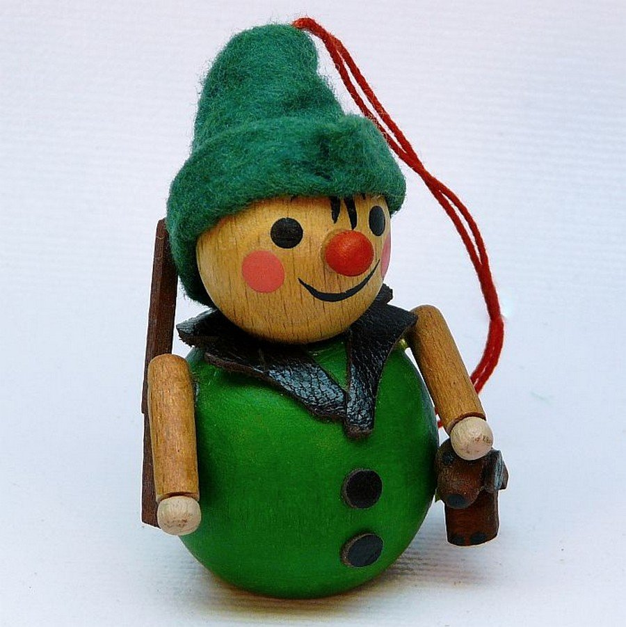 vintage steinbach christmas ornament hunter with dog germany wooden