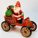 vtg Hallmark first Here Comes Santa 1979 ornament QX1559 motor car 1st in series Christmas