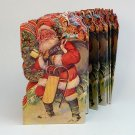 vintage Santa folding decoration Merrimack 1983 heavy paper 42 sections 94 inches Christmas