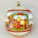 vtg Hallmark Joan Anglund Walsh ornament 1979 Smallest Pleasure QX2059 Christmas sleeved satin ball