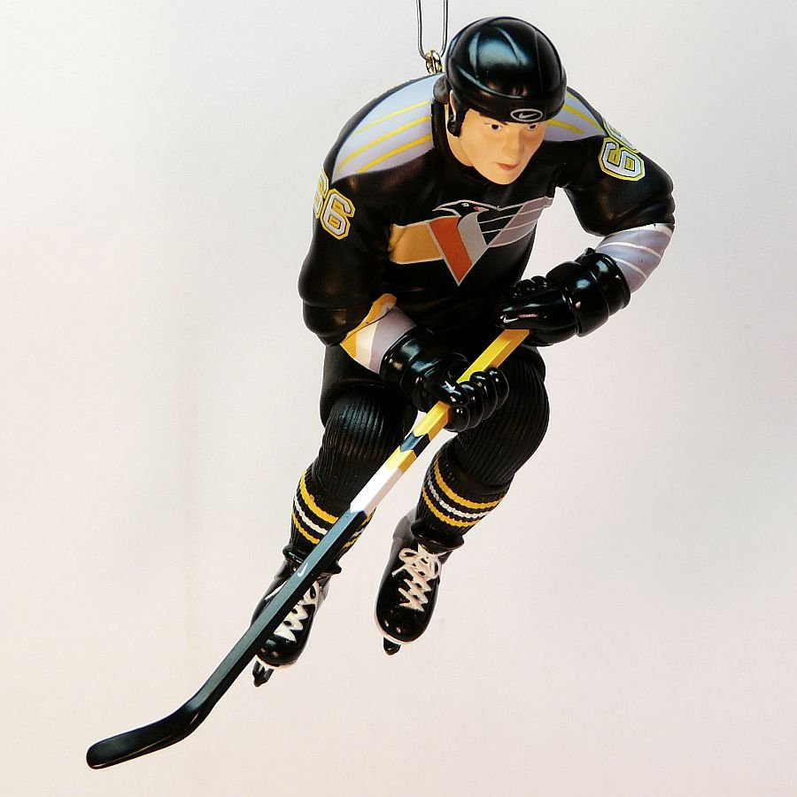 hallmark nhl mario lemieux ornament hockey 2001 pittsburgh penguins qxi6155 christmas black uniform