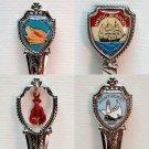 Lot of 4 collectible spoons vintage souvenir Maine Mystic Seaport Connecticut Nantucket Myrtle Beach