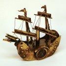 vtg sidewheeler steamship model celluloid with sails figurine boat ship