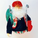 vtg golf Santa ornament Christmas fabric golfing