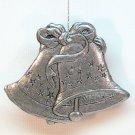 Carson pewter Christmas bells ornament 1993