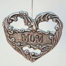 Carson pewter ornament Mom heart Christmas
