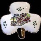 Vtg Irish Carrigaline Ashtray Caravan Traveler Tinker Wagon Shamrock Ireland
