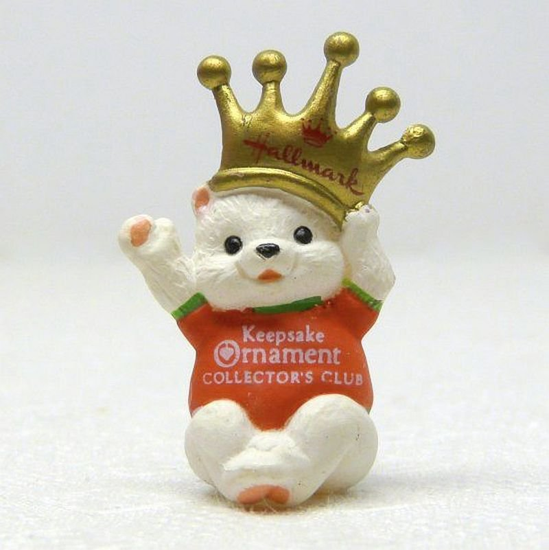 Vintage Hallmark Miniature Crown Prince Christmas Ornament Collector's Club 1990 QXC5603