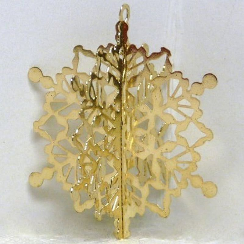 Vintage Hallmark Miniature Brass Snowflake Christmas Ornament 1989 QXM5702