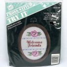 Cross Stitch Kit Welcome Friends by Banar Designs easy to do