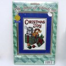 janlynn Counted Cross Stitch Picture Kit Christmas Joy cats