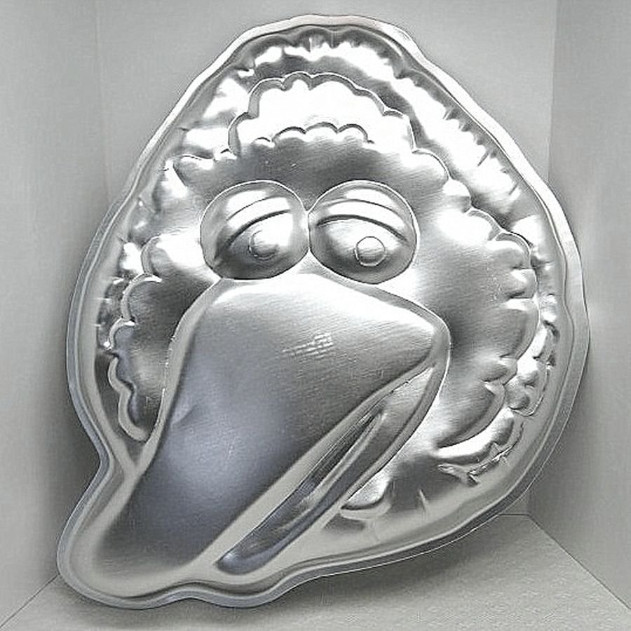Vintage Wilton Cake Pan Big Bird Face Head 502 7409 Muppets from 1971