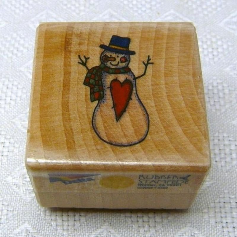 Rubber Stampede Delta Rubber Stamp Snowman Christmas