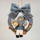 Country style little doll Christmas ornament handmade