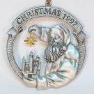 Avon 1997 pewter Santa Christmas ornament