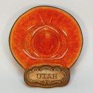 Vtg Mid Century Utah sombrero ashtray Treasure Craft USA lava orange red glaze