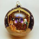 Large glass hand painted Nativity Christmas ornament